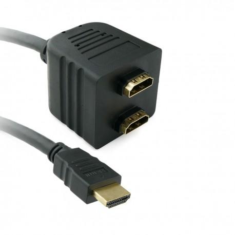 Cable duplicador pasivo de 1 HDMI a 2 HDMI