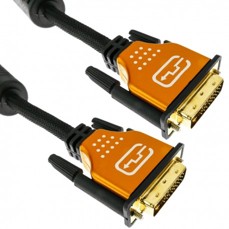Super cable DVI-D macho a DVI-D macho de 5 m dual link