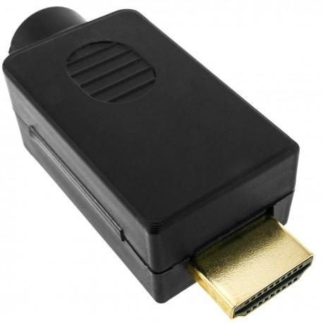 Conector HDMI con bloque de terminales para conectar cable