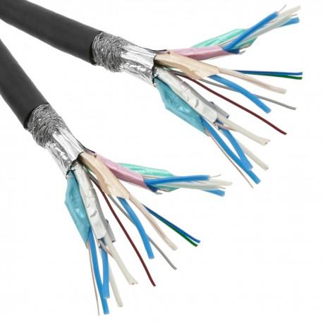 Bobina de cable de vídeo cable HDMI 1.4 para crimpar negro 10 m