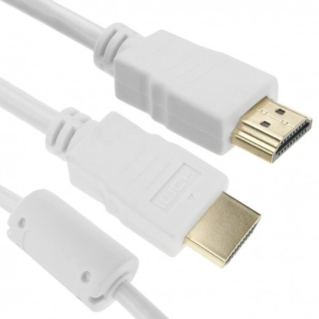 Cable de vídeo HDMI 2.0 Ultra HD 4K TV macho a macho blanco 1 m
