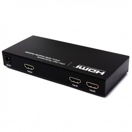 Selector HDMI con audio de 3 entradas 1 salida y con control remoto