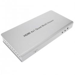 Selector matricial HDMI con audio de 4 entradas 1 salida y con control remoto