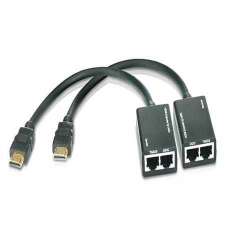 Extensor HDMI por cable UTP (30m a 1080p 2xUTP con latiguillo)