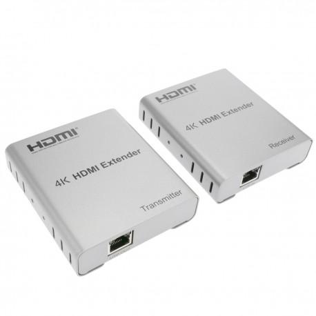 Extensor HDMI por cable UTP Cat.5e 80 m compatible con IR y FullHD 2K 4K 3D