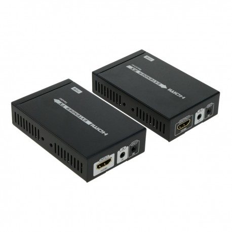 Extensor HDMI por cable UTP 70m compatible HDBT HDbaseT con IR FullHD 2K 4K 3D