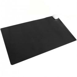 Alfombra y superficie térmico con calefacción para escritorio suelo y pies de 60 x 36 cm 85W negro