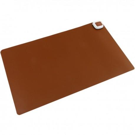 Alfombra y superficie térmico con calefacción para escritorio suelo y pies de 60 x 36 cm 65W marrón