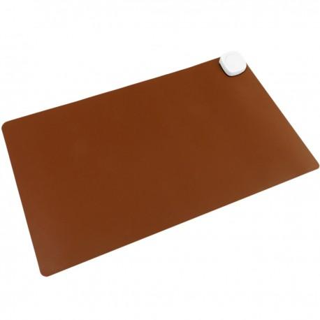 Alfombra y superficie térmico con calefacción para escritorio suelo y pies de 60 x 36 cm 85W marrón