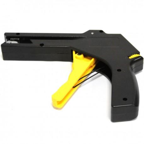 Pistola tensora de bridas con cuchilla cortante automática