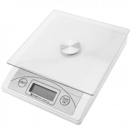 Balanza digital de 5 Kg con plataforma de cristal