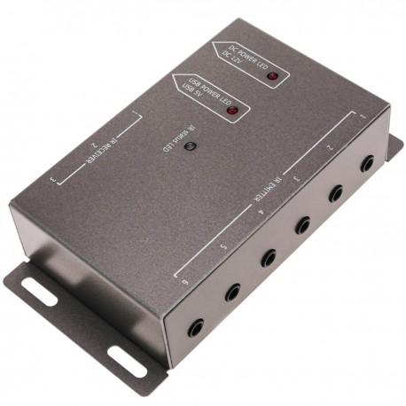 Repetidor de infrarrojos IR con 3 puertos receptores y 6 emisores