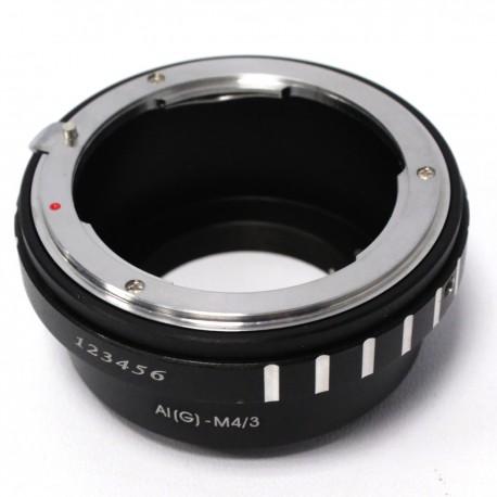 Adaptador de montura M4/M3 a Nikon A1