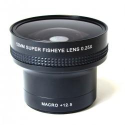 Lente ojo de pez 0.25X macro 12.5X montura 52mm