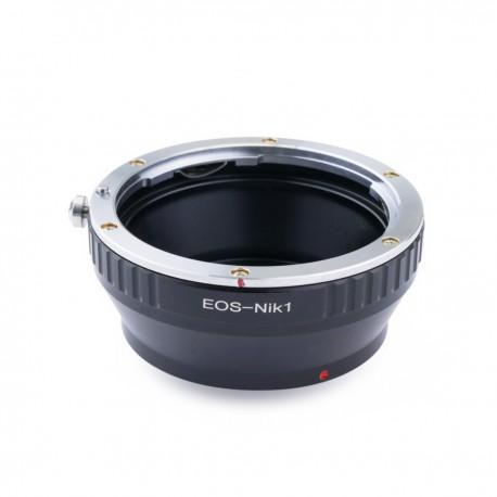 Adaptador de objetivo Canon EOS a cámara Nikon 1
