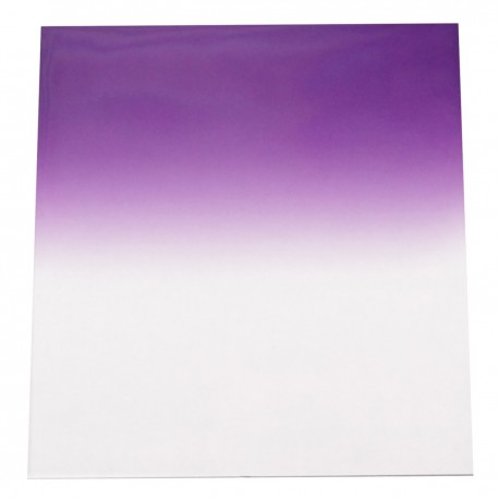Filtro de fotografia cuadrado para portafiltros cokin 84x95mm violeta-gradual