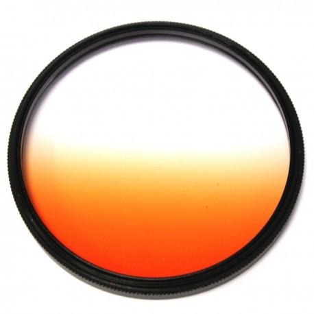 Filtro fotografia color gradual naranja para objetivo de 72 mm