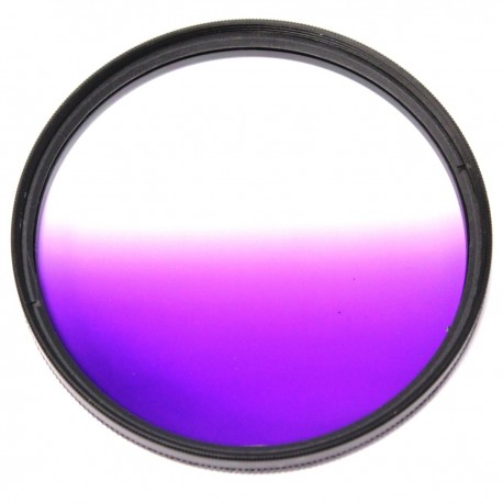 Filtro fotografia color gradual violeta para objetivo de 72 mm
