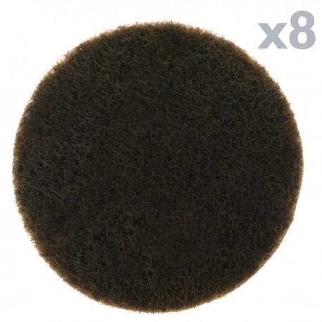 Fieltro adhesivo para muebles Redondo 27mm Marrón 8 unidades