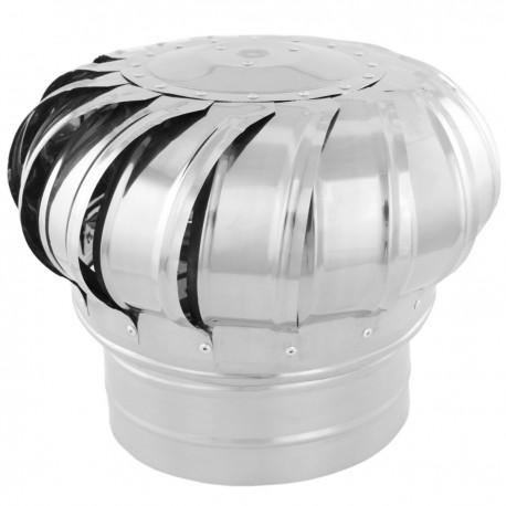 Sombrero extractor de humos galvanizado giratorio para tubo de 200 mm de diámetro