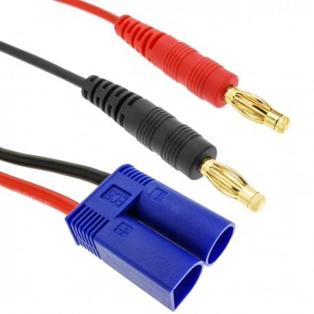 Cable EC5 macho a HXT Banana 4.0mm macho de 30cm 14AWG Carga y fuente alimentación