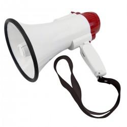 Megáfono de 10W con grabación 10s y sirena. Altavoz portátil de 150x250 mm