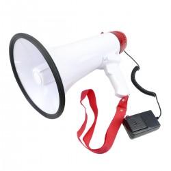 Megáfono de 20W con grabación 10s y sirena Altavoz portátil de 200x320 mm
