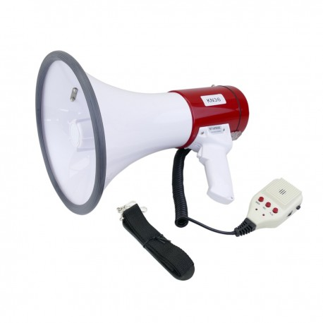 Megáfono de 25W con grabación 10s y sirena Altavoz portátil de 230x350 mm
