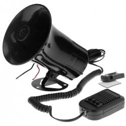 Megáfono de 30W con tres tonos de sirenas. Altavoz fijo de 120x150 mm