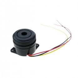 Zumbador piezo cerámico con sonido contínuo o intermitente 12VDC