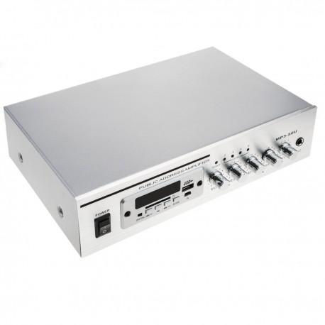 Amplificador para sonorización profesional de 40W 110V 1 zona con MIC AUX FM MP3
