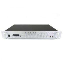 Amplificador para sonorización profesional de 150W 110V 5 zonas con MIC AUX FM MP3 rack