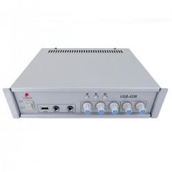 Amplificador para sonorización profesional de 45W 110V 1 zona con MIC AUX MP3