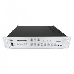 Amplificador para sonorización profesional de 80W 110V 3 zonas con MIC AUX MP3 rack