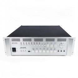 Amplificador para sonorización profesional de 800W 110V 8 zonas con MIC AUX MP3 rack