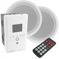 Amplificador reproductor multimedia con altavoces empotrables de techo