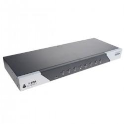 Conmutador KVM USB y PS2 de 8 puertos 1U