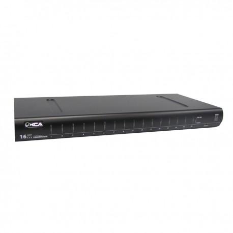 Conmutador KVM USB y PS2 de 16 puertos 1U