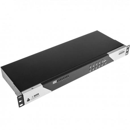 """Conmuntador rack 19"""" KVM de 8 puertos a través de cable UTP Cat.6"""