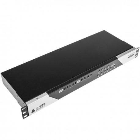 """Conmuntador rack 19"""" KVM de 16 puertos a través de cable UTP Cat.6"""