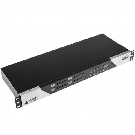 """Conmuntador rack 19"""" KVM de 32 puertos a través de cable UTP Cat.6"""