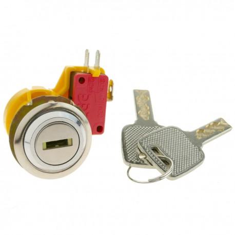Cerradura electrónica de 27mm x M18 con llave plana