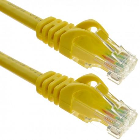 Cable de red ethernet LAN UTP RJ45 Cat.6a amarillo 3 metros