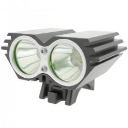 Luz LED frontal para cabeza y bicicleta con batería de 8000 mAh 2000 lúmenes 2 x T6 XLamp
