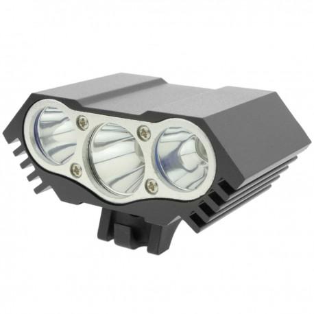 Luz LED frontal para cabeza y bicicleta con batería de 8000 mAh 3000 lúmenes 3 x T6 XLamp