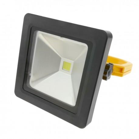 Foco de luz LED 10W exterior IP44 recargable 6500K luz día