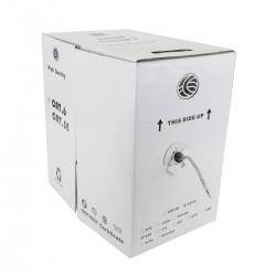 Bobina de cable UTP Cat.6A 23AWG rígido gris 305m
