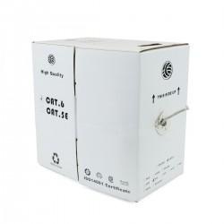 Bobina cable FTP categoría 6 24AWG rígido gris 100m