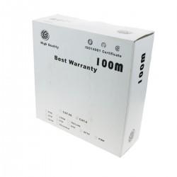 Bobina cable FTP categoría 6 24AWG flexible gris 100m