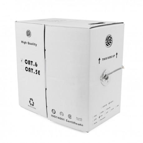 Bobina de cable FTP Cat.6A 23AWG rígido gris 305m